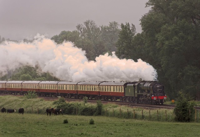 Royal Scot out of the mist on the 'English Riviera Express'