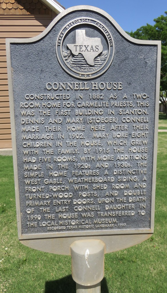 Connell House Marker (Stanton, Texas)