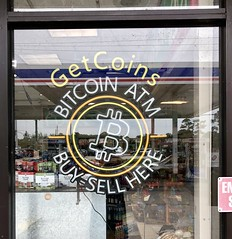 Bitcoin at gas station in West Palm Beach, Florida