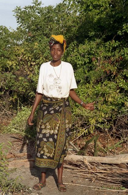 Woman at our campsite; near Vilanculos, Mozambique