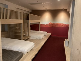 Hotel room loft / sleeping area