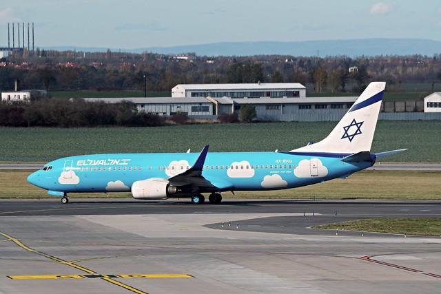 Boeing 737-8Z9  4X-EKU — EL AL Israel Airlines