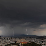 14. Juuni 2021 - 18:21 - Noon storm with a double lightning strike near Mt. Penteli, Athens, Greece, 12.06.2021. Canon 5dmk4, Sigma Art 14 mm, f/4, NiSi ND nano filter 64, iso 100.  Photography and Licensing: doudoulakis.blogspot.com/  My books concerning natural phenomena / Τα βιβλία μου σχετικά με τα φυσικά φαινόμενα αλλά και βιβλία για φοιτητές: www.facebook.com/TaFisikaFainomena/