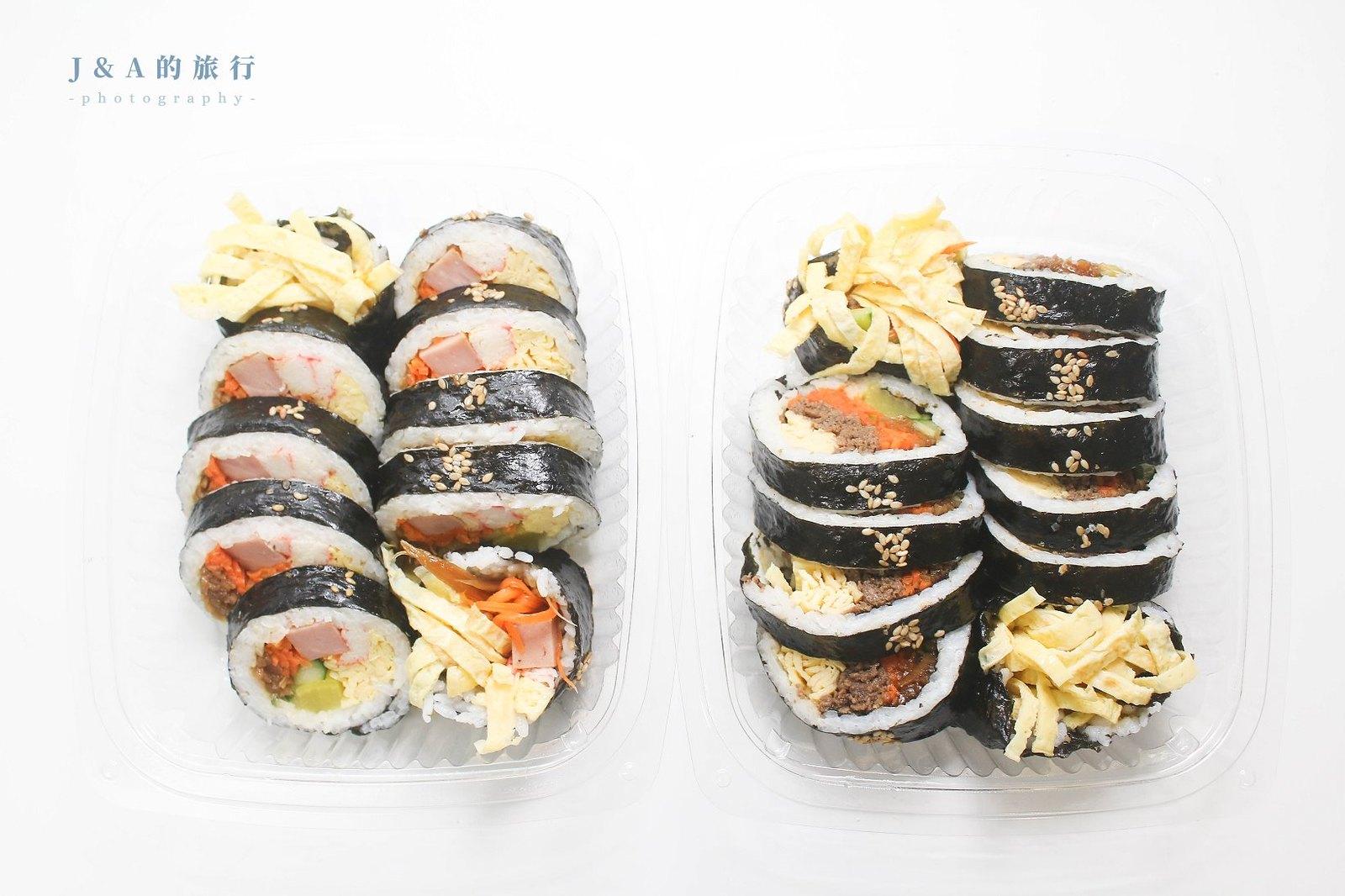 最新推播訊息:韓式海苔飯捲份量實在,外帶回家也不走味