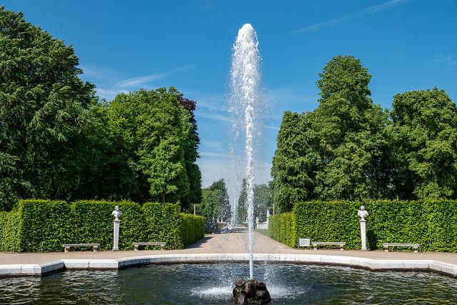 Potsdam, Park Sanssouci: Fontäne im Oranierrondell - Fountain in the Orange Rondel