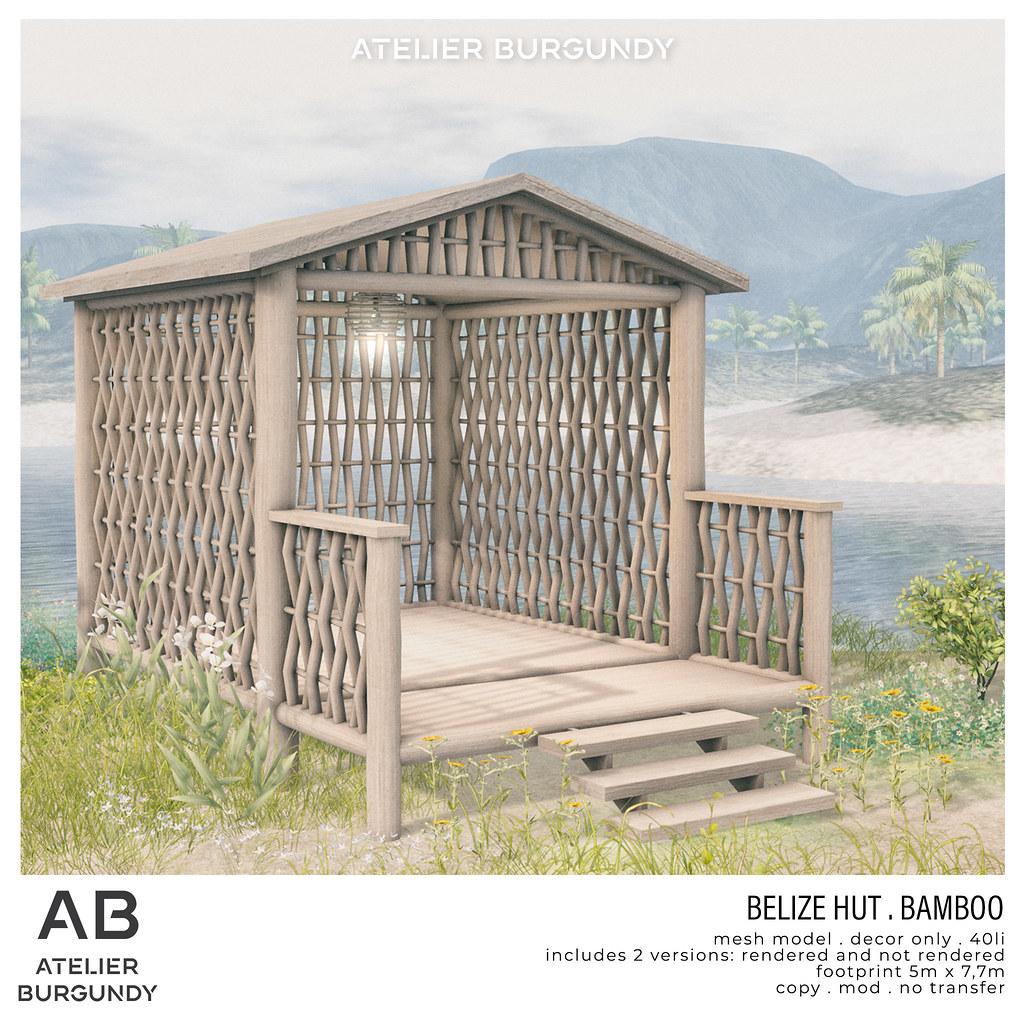 Atelier Burgundy . Belize Hut Bamboo