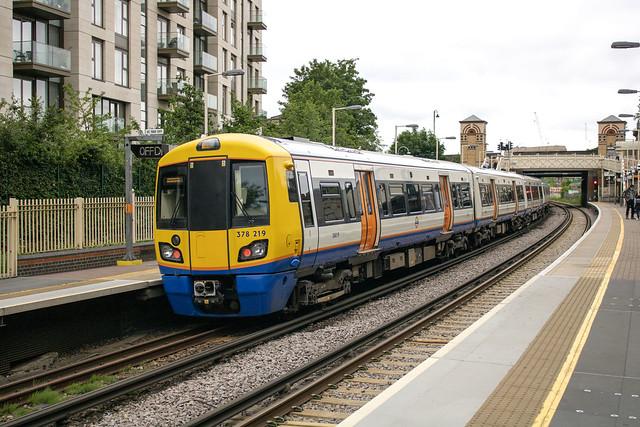 London Overground 378219 , West Brompton 19.6.21