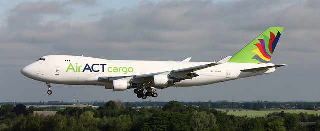 B-747, TC-MCT, Air ACT Cargo, Liege Airport, 19 June 2021