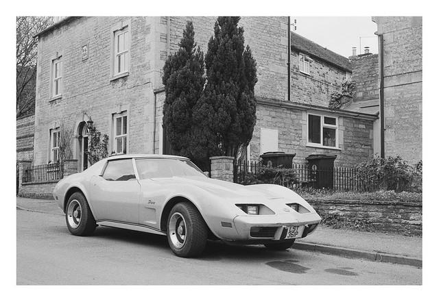 FILM - 1976 yellow Corvette