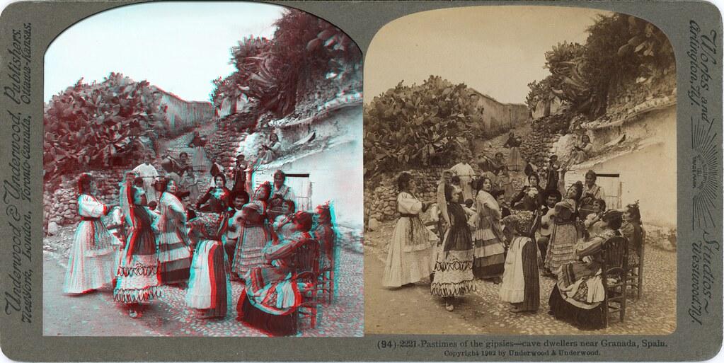 Passe-Temps des Bohémiens- Habitants de cavernes pres de Grenade 1902