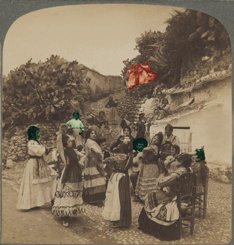 DOC Passe-Temps des Bohémiens- Habitants de cavernes pres de Grenade 1902