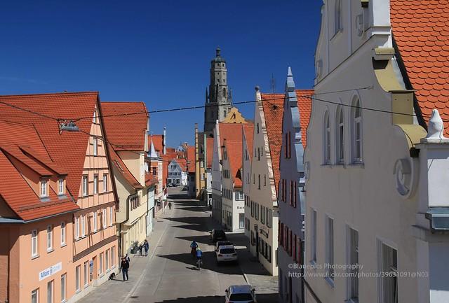 Nördlingen, view from Berger Tor downtown