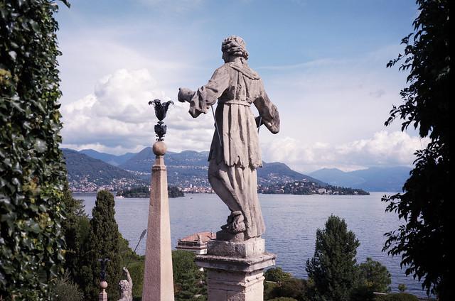 Statua Isola Bella - Kodak Portra 6x9 - Lago Maggiore - Sylvain Brajeul ©