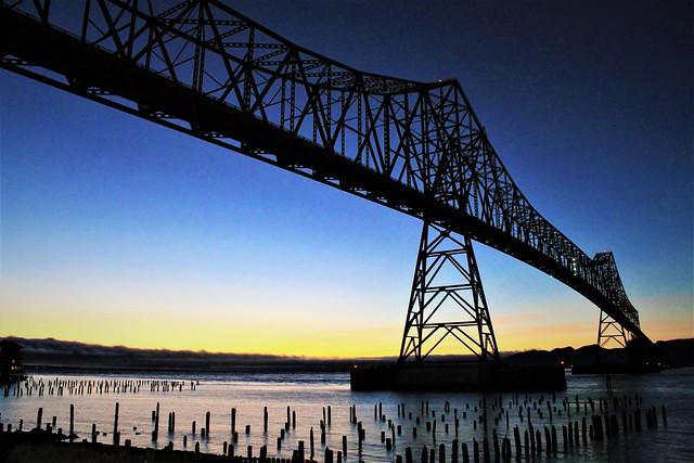 Bright Dusk at Astoria Bridge