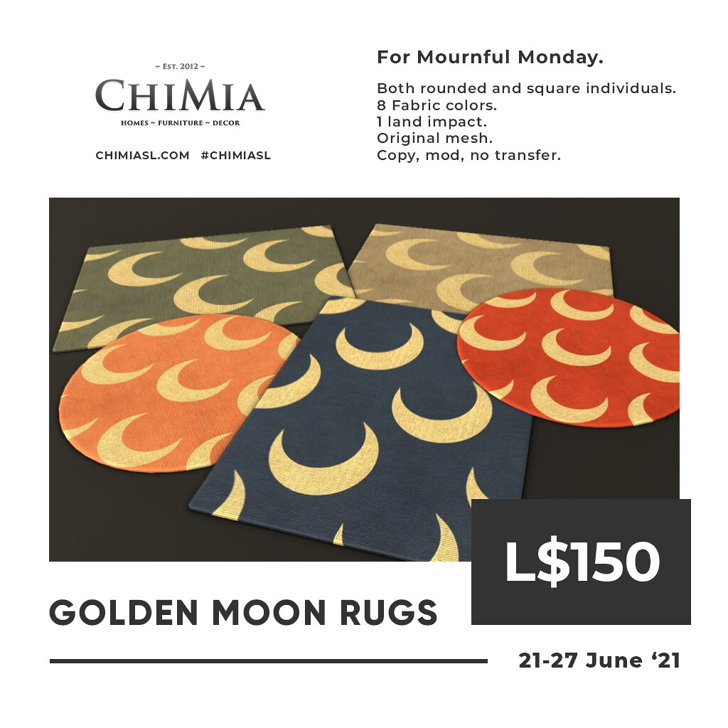 Golden Moon Rugs for Mournful Monday by ChiMia