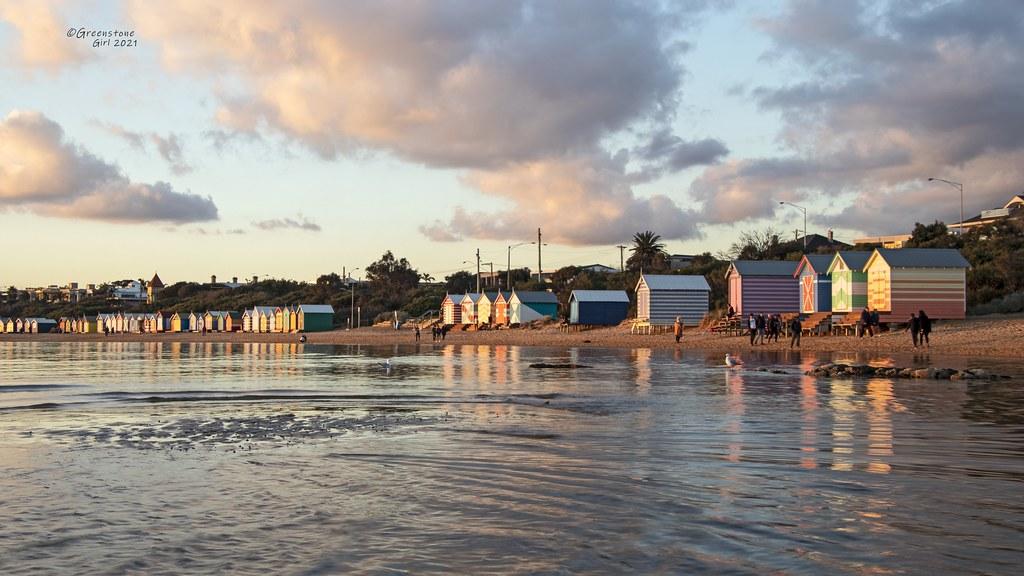 Those beautiful bathing huts