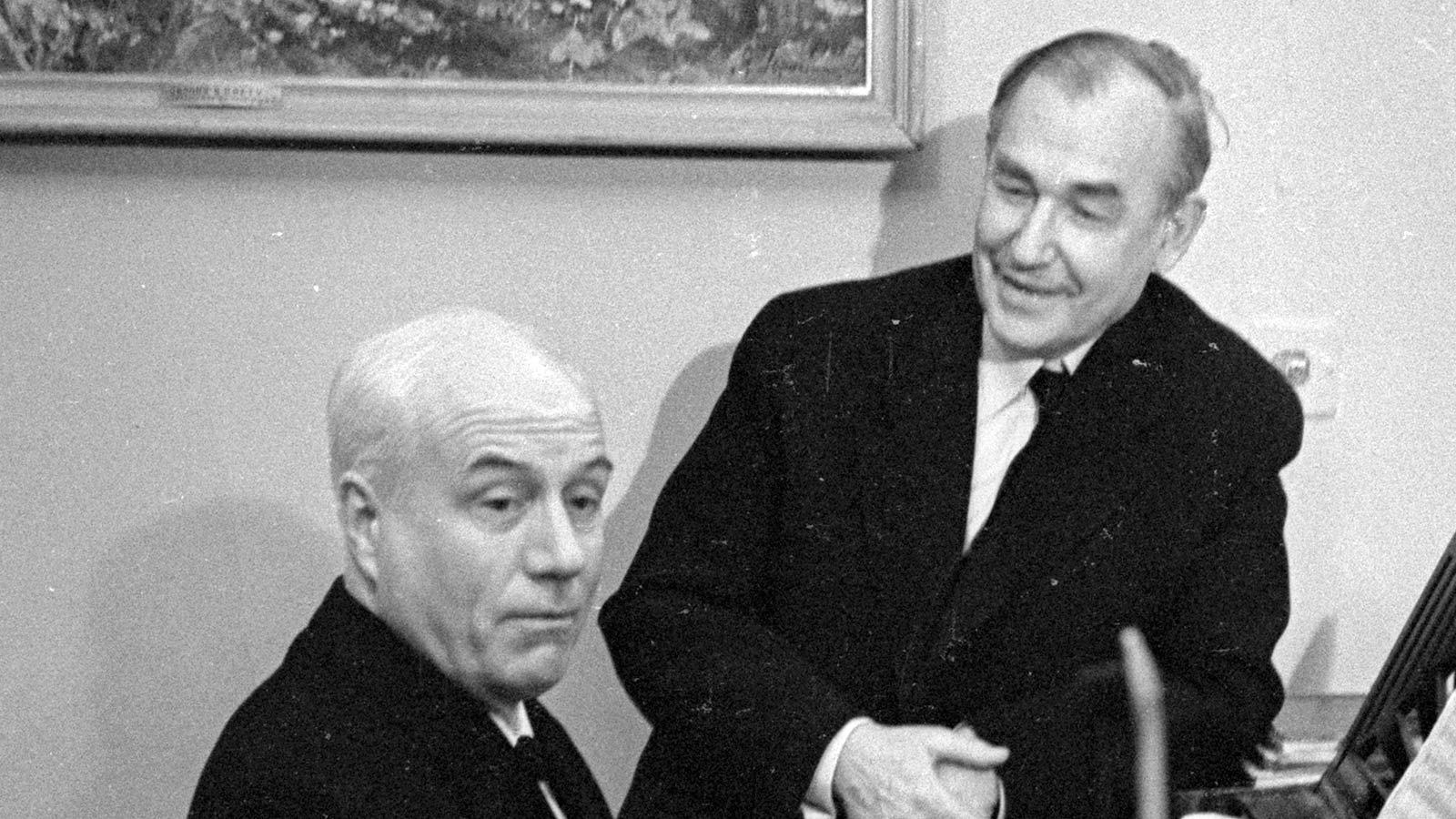 1962. Иван Козловский и Виктор Кубацкий (слева направо)