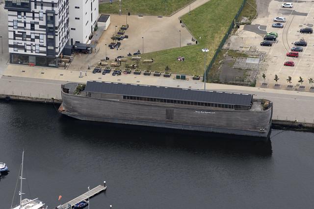 Ipswich aerial image - Verhalen Ark (Noah's Ark) in Ipswich Marina - Suffolk UK