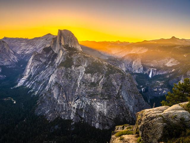 Glacier Point View Yosemite National Park Yosemite Falls Sunset 45EPIC Elliot McGucken Fuji GFX100 Fine Art Landscape Nature Photography! Master Medium Format Fine Art Photographer! Fujifilm GFX 100 & FUJINON FUJIFILM Lens