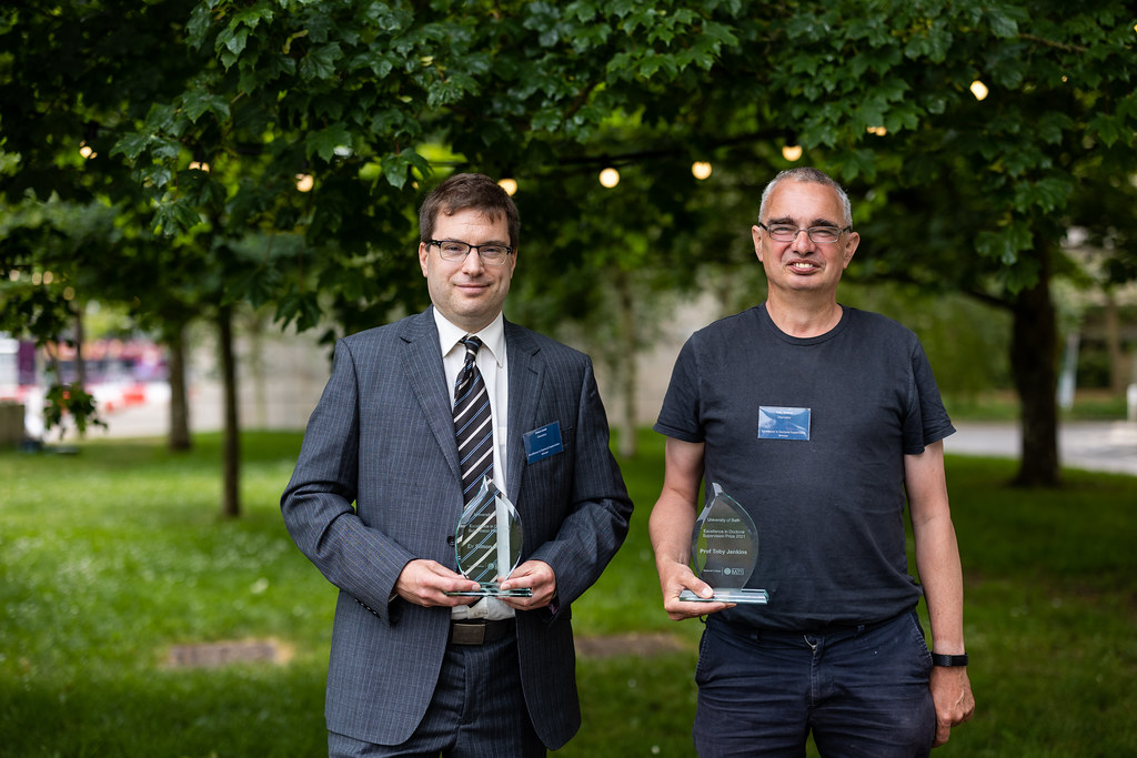 Image of Dr Simon Lewis (left) and Professor Toby Jenkins (right)