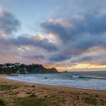 22. Juuni 2021 - 7:26 - Sunrise Seascape with light high cloud at Malua Bay on the South Coast of NSW, Australia