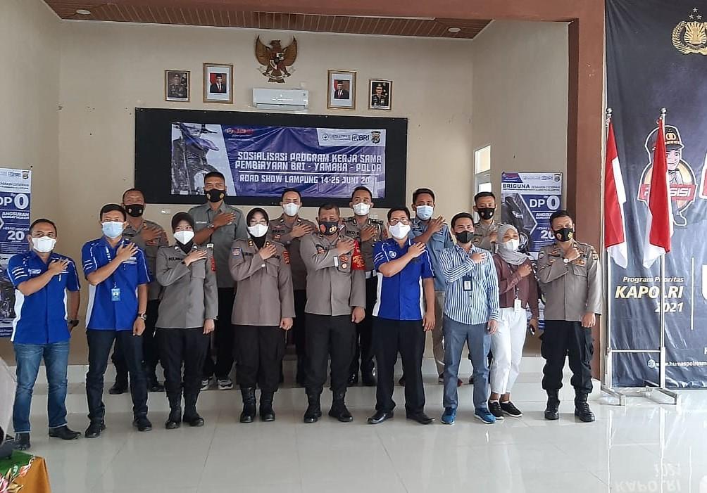 Kerjasama PT. Lautan Teduh Main Dealer Yamaha Lampung, Polda Lampung dan BRI Lampung