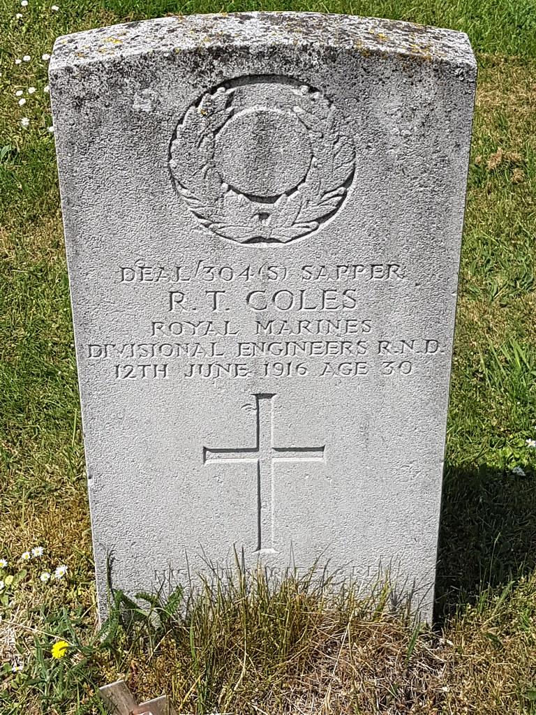CWGC Sapper R T COLES