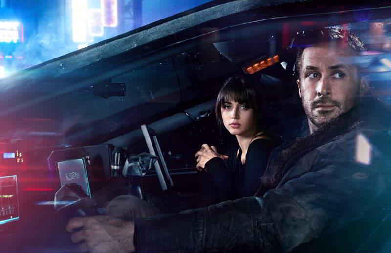 Ryan Gosling as K and Ana de Armas as Joi