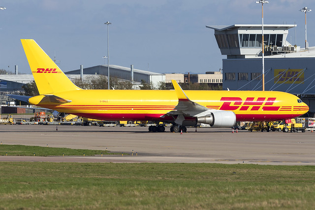DHL 767-300F G-DHLE at East Midlands Airport EMA/EGNX