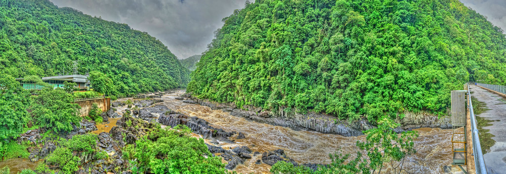 Barron Gorge River and Power Station After Heavy Rains - Feb 14, 2015