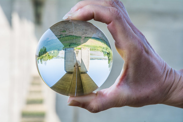 Under the Orwell bridge lensball