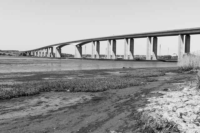 Orwell bridge black and white