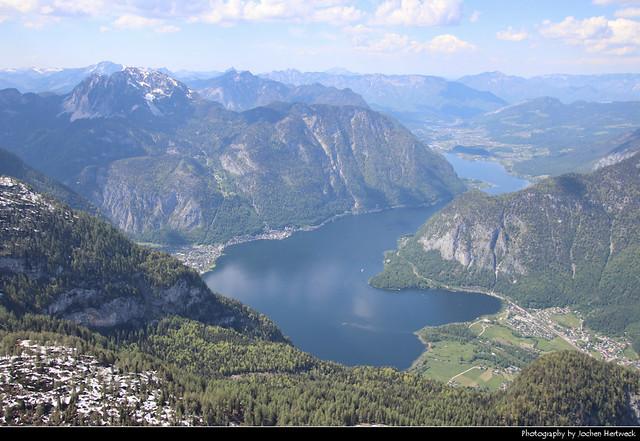 Hallstätter See seen from Krippenstein, Austria