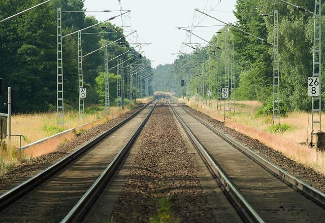 Gleise in Brandenburg 21.6.2021