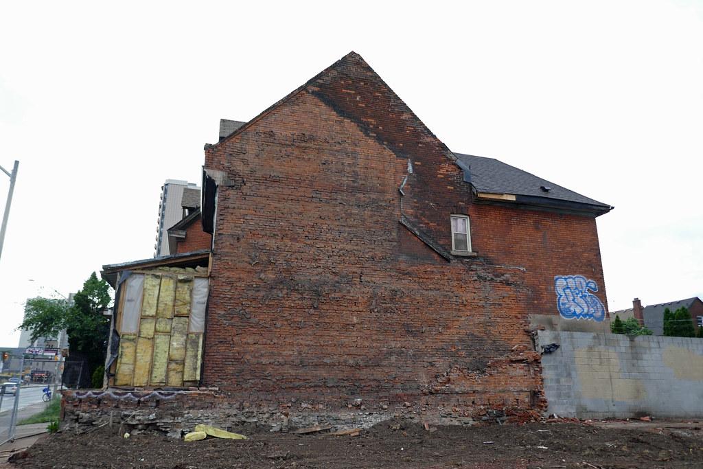Demolished house King St. E. at Steven St. (2)