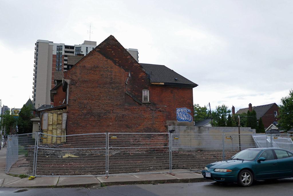 Demolished house King St. E. at Steven St.