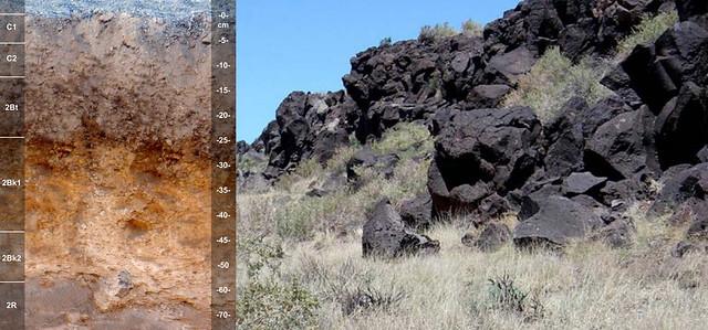Flaco soil, tephra and landscape AZ