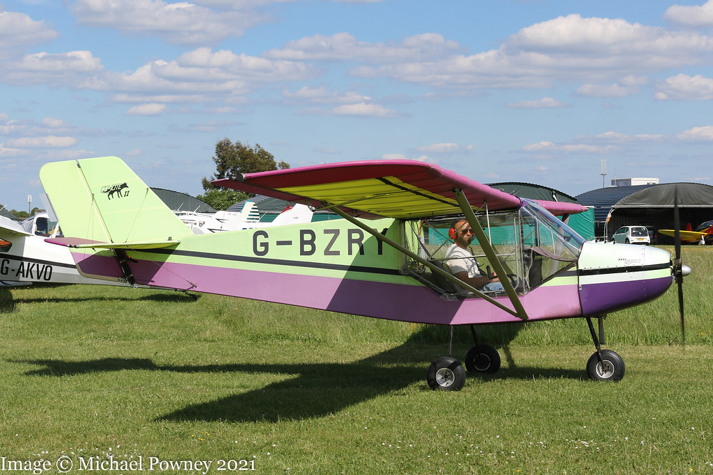 G-BZRY - 2001 build Rans S6-ES Coyote II, taxiing for departure at Enstone