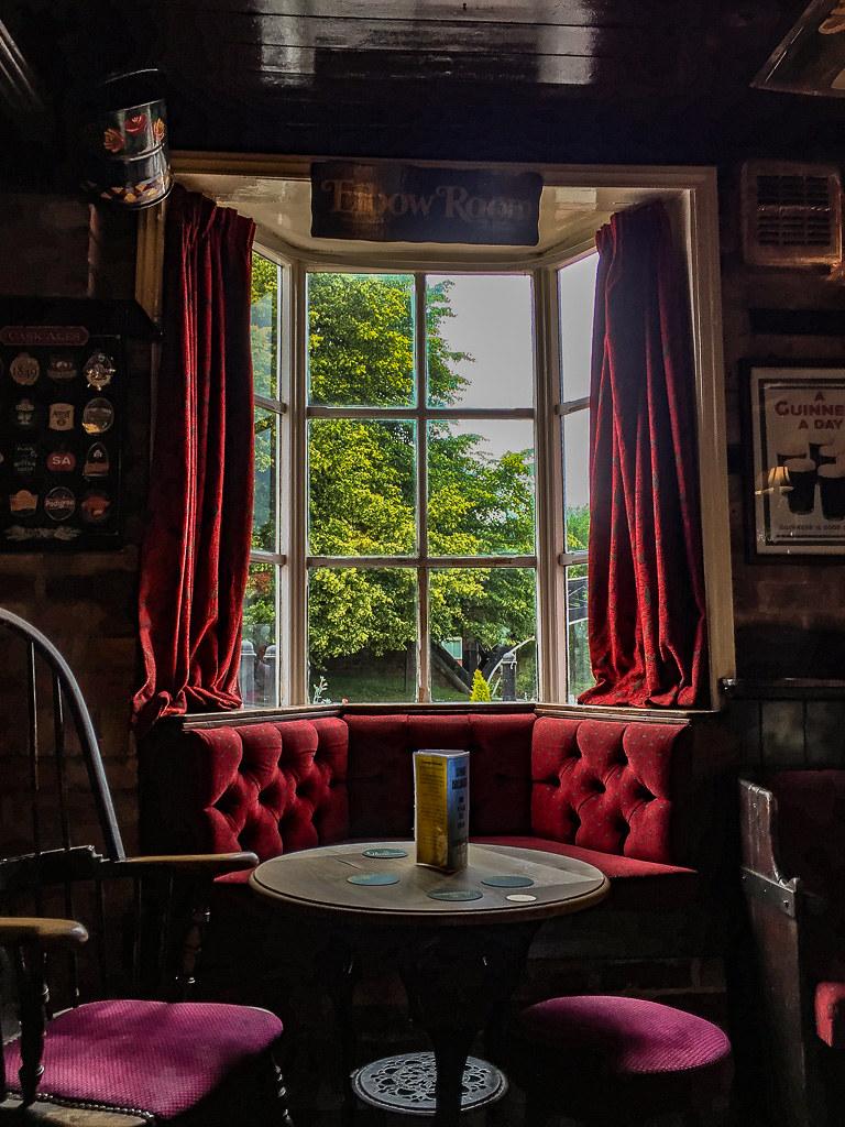 The Greyhound Inn bow window
