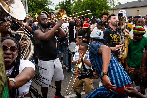 TBC Brass Band with Perfect Gentlemen Second Line Parade on June 20, 2021. Photo by Ryan Hodgson-Rigsbee.