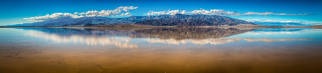 Death Valley National Park Death Valley Lake Panorama 45EPIC Elliot McGucken Fine Art Landscape Nature Photography! Master California Fine Art Photographer!
