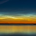 Noctilucent Clouds in Deep Twilight at Crawling Lake
