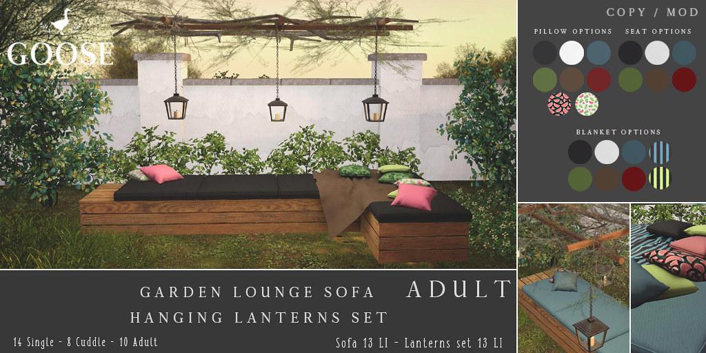 GOOSE – lounge sofa hanging lanterns