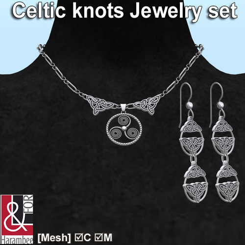 Celtic knots Jewelry set PIC