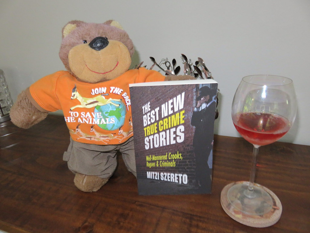 """Teddy Tedaloo celebrates the release of the latest book in """"The Best New True Crime Stories"""" series!"""