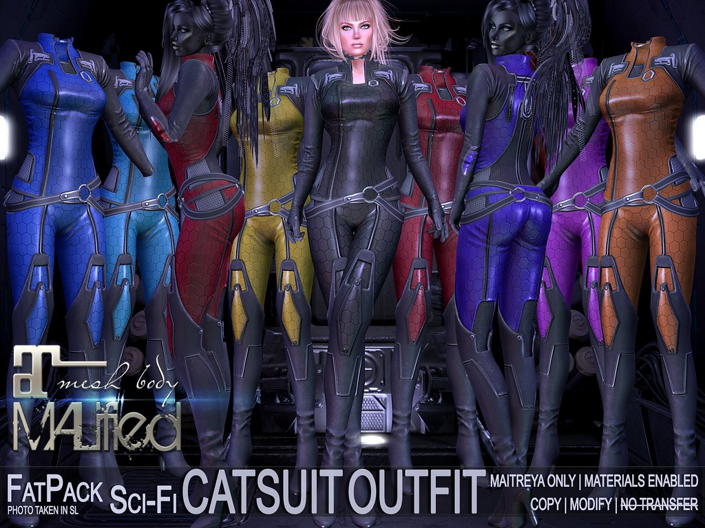 MALified – Sci-Fi CatSuit Outfits – FatPack