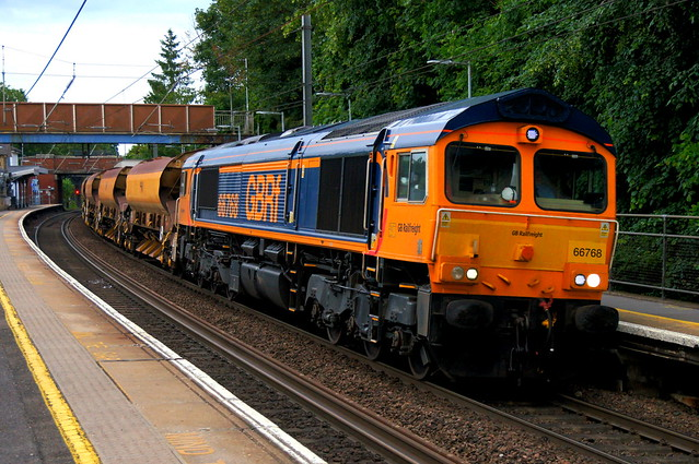Night Shift: 66768 (66775 on rear) 6T71 Stansted Mountfitchet 22/06/21