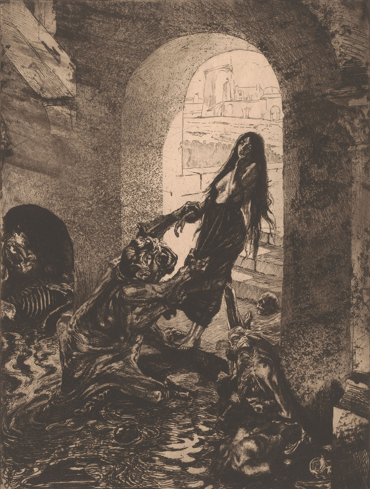 Marcel Roux - Offering to Moloch, 1908