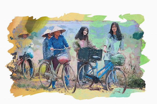 People and bicycles