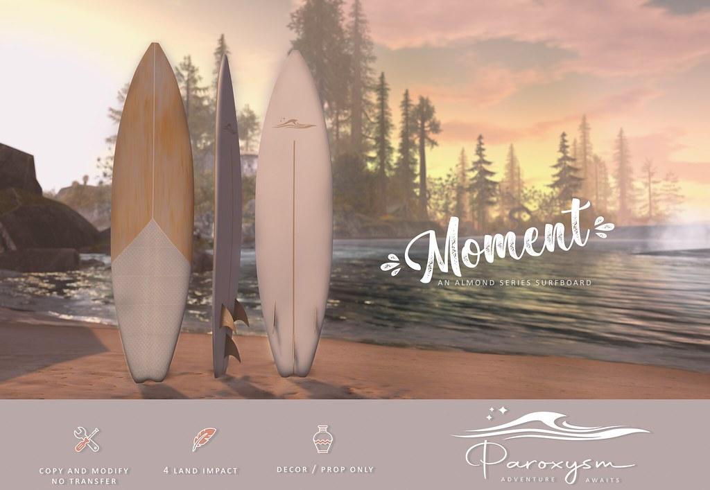 """PAROXYSM. """"Moment"""" Surfboard  (White)"""